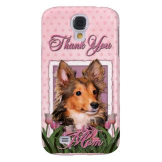 Gracias - los tulipanes rosados - perrito de Shelt
