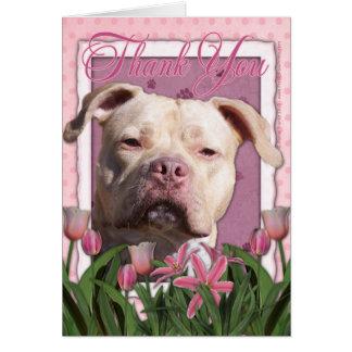 Gracias - los tulipanes rosados - Pitbull - chica Tarjeta De Felicitación