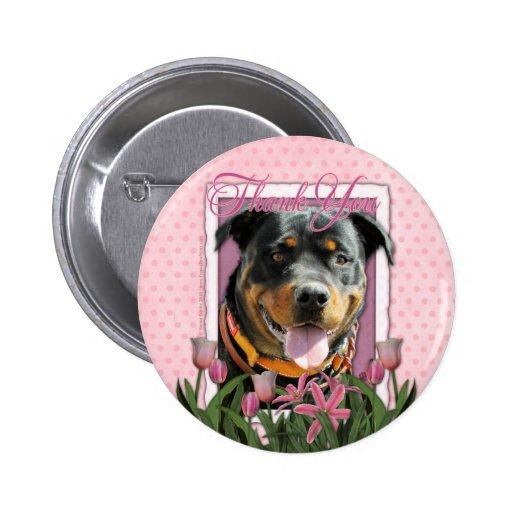 Gracias - los tulipanes rosados - Rottweiler - Sam Pin