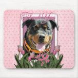 Gracias - los tulipanes rosados - Rottweiler - Sam Tapete De Ratones