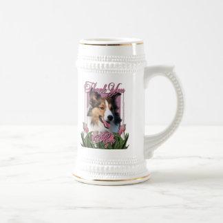 Gracias - los tulipanes rosados - Sheltie Jarra De Cerveza