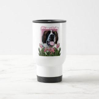 Gracias - los tulipanes rosados - St Bernard - Mae Taza De Viaje
