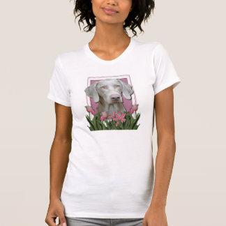 Gracias - los tulipanes rosados - Weimeraner - T-shirt