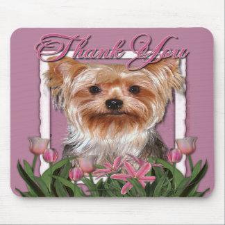 Gracias - los tulipanes rosados - Yorkshire Terrie Alfombrilla De Ratón