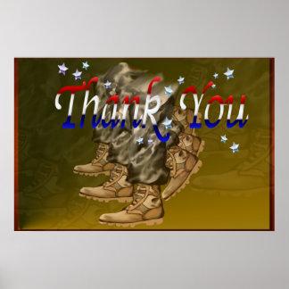 Gracias los Veterano-Posters Póster