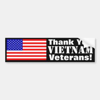 ¡Gracias los veteranos de Vietnam! Pegatina Para Auto