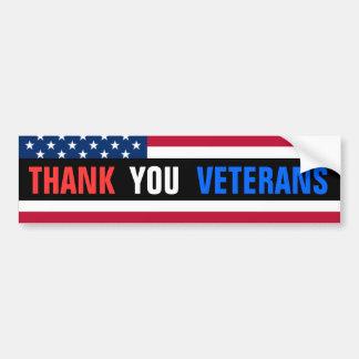 ¡Gracias los veteranos! Pegatina Para Auto