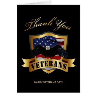 Gracias los veteranos tarjeta de felicitación