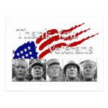 Gracias los veteranos tarjeta postal