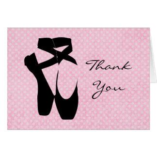 Gracias los zapatos de ballet tarjeta pequeña