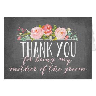 Gracias madre del | del novio tarjeta pequeña