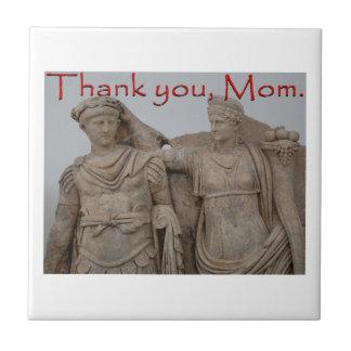 Gracias, mama azulejo cuadrado pequeño