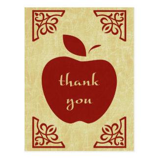 gracias: manzana elegante tarjetas postales