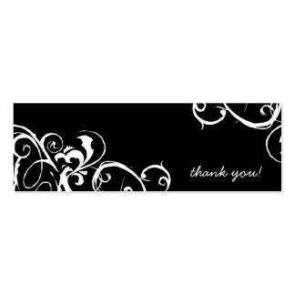Gracias marca con etiqueta tarjetas de visita mini