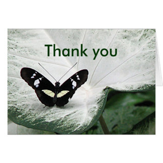 Gracias mariposa tarjeta de felicitación