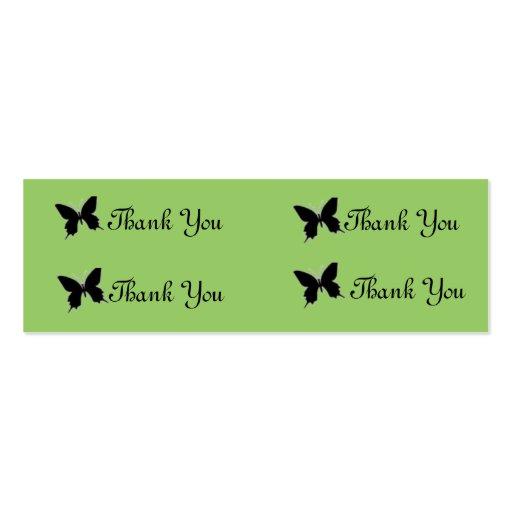 gracias mariposa tarjetas de visita mini