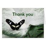 Gracias mariposa tarjeton