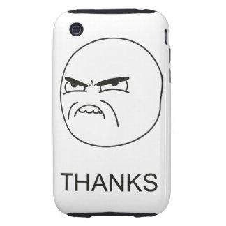 Gracias Meme - caso del iPhone 3G/3GS iPhone 3 Tough Cárcasas