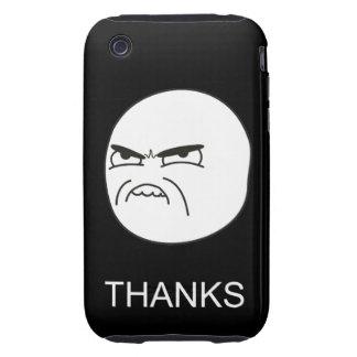 Gracias Meme - caso del negro del iPhone 3G/3GS iPhone 3 Tough Carcasa