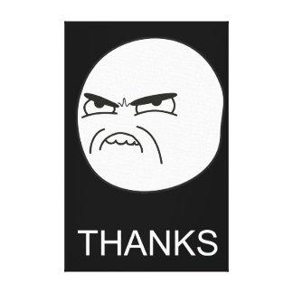 Gracias Meme - lona envuelta negro Lienzo Envuelto Para Galerías
