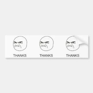 Gracias Meme - pegatina para el parachoques Pegatina Para Auto