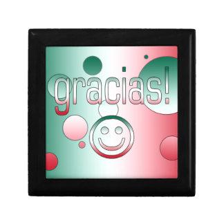 Gracias! Mexico Flag Colors Pop Art Jewelry Boxes