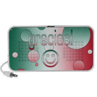 Gracias! Mexico Flag Colors Pop Art Travelling Speakers