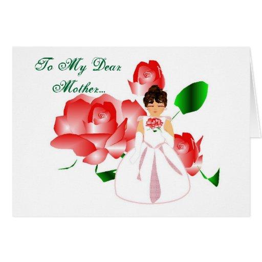 """""""Gracias mimar tarjeta del día de boda de la hija"""""""