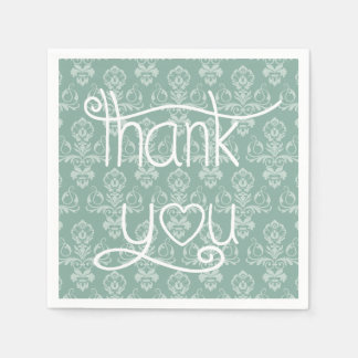 Gracias modelo azul, servilletas verdes del servilletas de papel