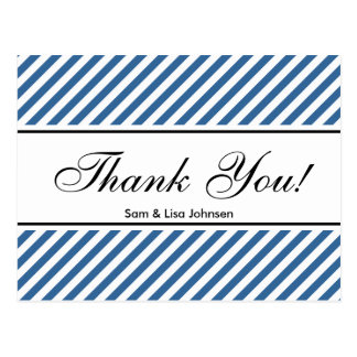 Gracias modelo de la raya azul de las postales el