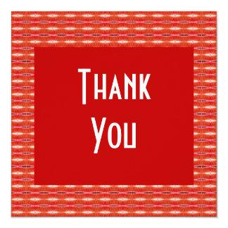 Gracias modelo rojo invitación 13,3 cm x 13,3cm