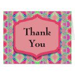 Gracias modelo rosado bonito tarjeton