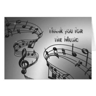 Gracias - música - las notas - Musical Tarjeton