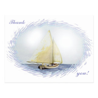 "¡Gracias!  ""Navegando"" por Brigid O'Neill Hovey Tarjetas Postales"