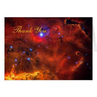 Gracias - nebulosa de la emisión en Puppis Tarjeta De Felicitación