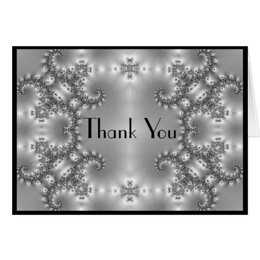 Gracias negro de plata reluciente felicitacion