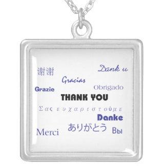 Gracias (negro y Blue001) collar