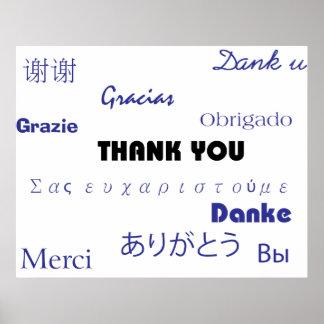 Gracias (negro y blue001) imprimir impresiones