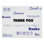 Gracias (negro y blue001) imprimir póster