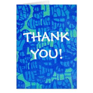 Gracias Notecard - diseño abstracto Tarjeta Pequeña
