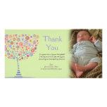 Gracias nuevo regalo Photocard del bebé del árbol  Tarjeta Personal
