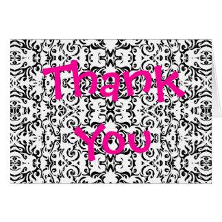 Gracias observar el espacio en blanco del arte del tarjeta de felicitación