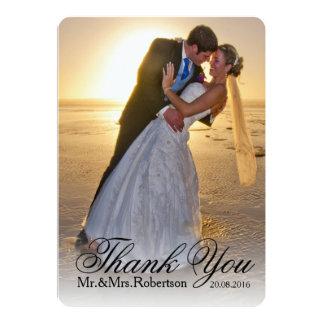 """Gracias observar la foto simple del boda del   invitación 5"""" x 7"""""""