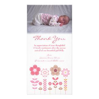 Gracias observar la plantilla de la tarjeta de la  tarjeta personal con foto
