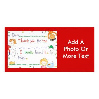 Gracias observar plantilla para tarjeta de foto