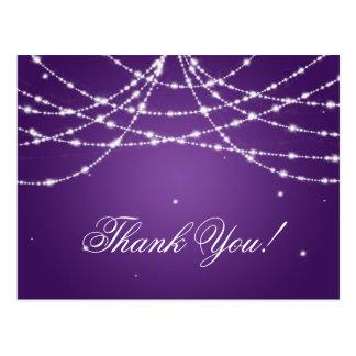 Gracias observar púrpura chispeante de la postal
