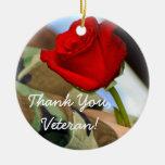 Gracias ornamento del veterano adorno