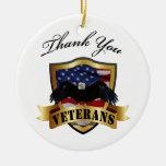 Gracias ornamento personalizado los veteranos ornamentos de navidad