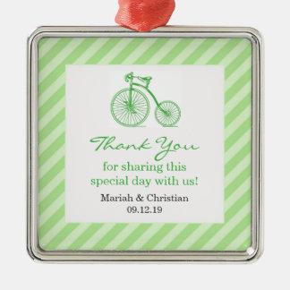Gracias ornamento verde del favor de la fiesta de ornaments para arbol de navidad
