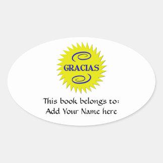 Gracias Oval Sticker